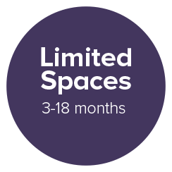 limited spaces 3-18months